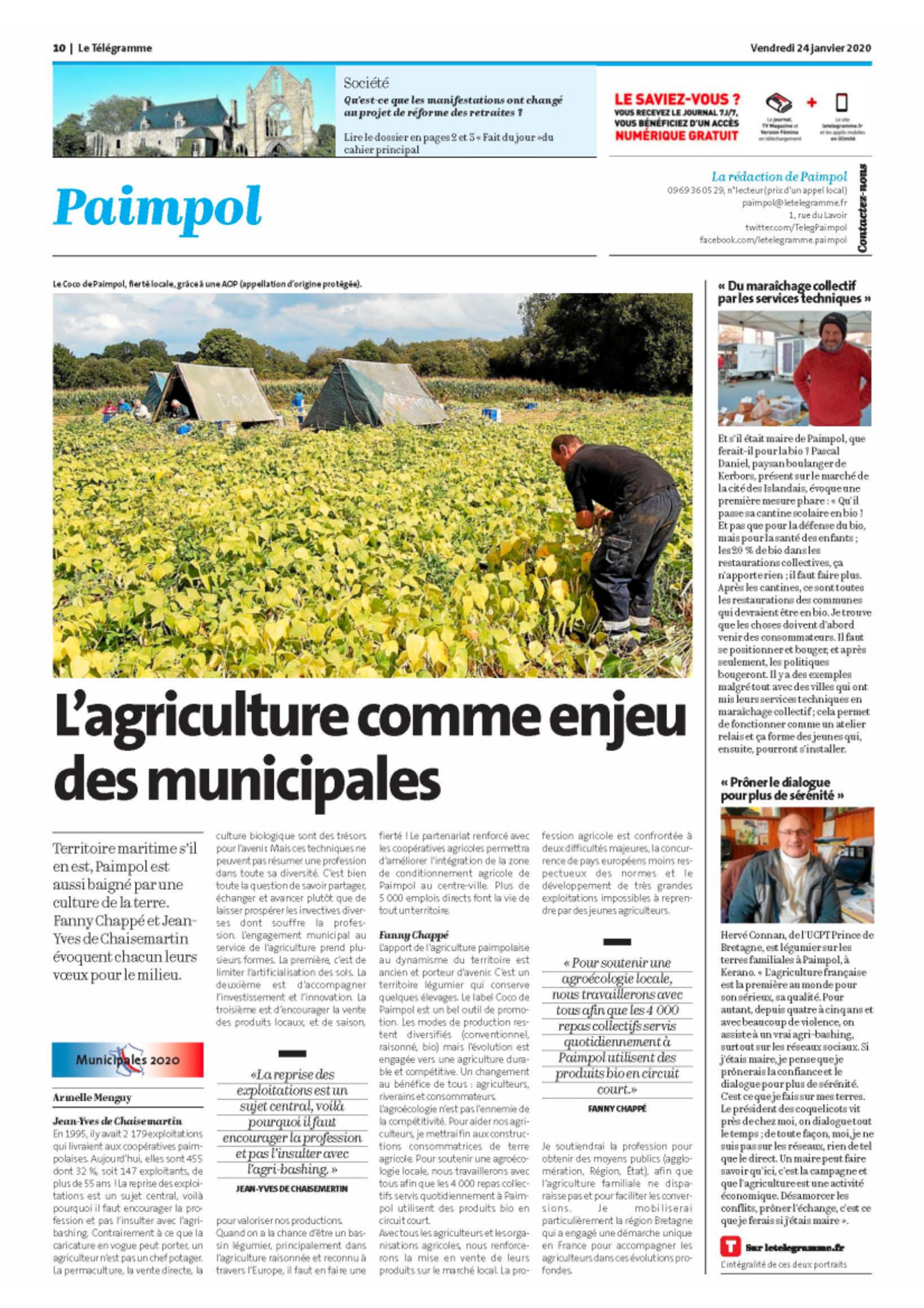 L''agriculture comme enjeu des municipales