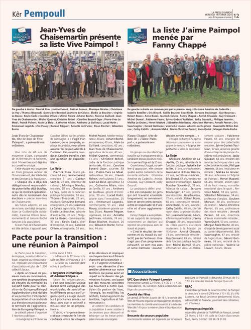 Jean-Yves de Chaisemartin présente sa liste Vive Paimpol !