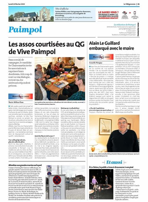 """""""Les assos courtisées au QG de Vive Paimpol"""""""