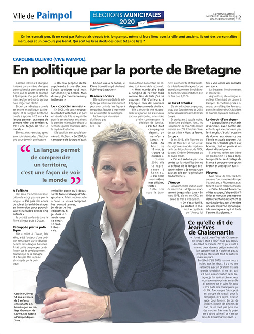 En politique par la porte de Bretagne