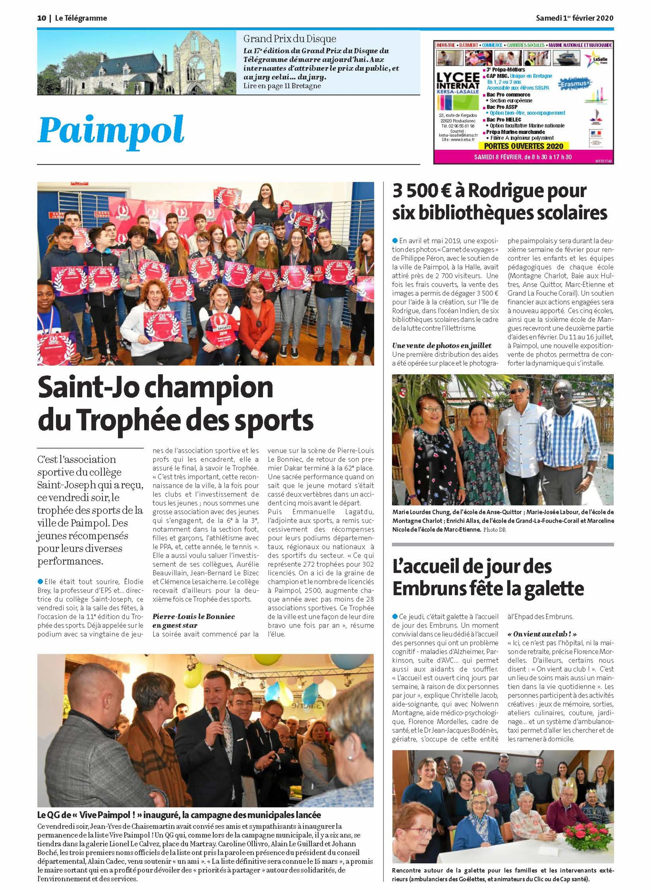"""Le QG de """"Vive Paimpol !"""" inauguré, la campagne des municipales lancée"""