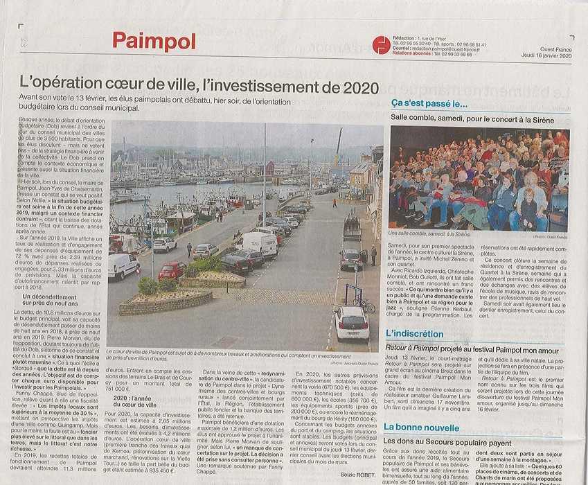 L''opération cœur de ville, l''investissement de 2020 0