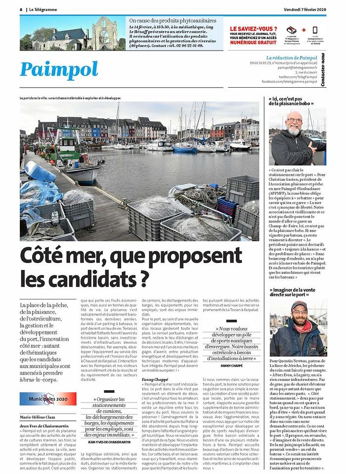 """""""Côté mer, que proposent les candidats ?"""" 0"""