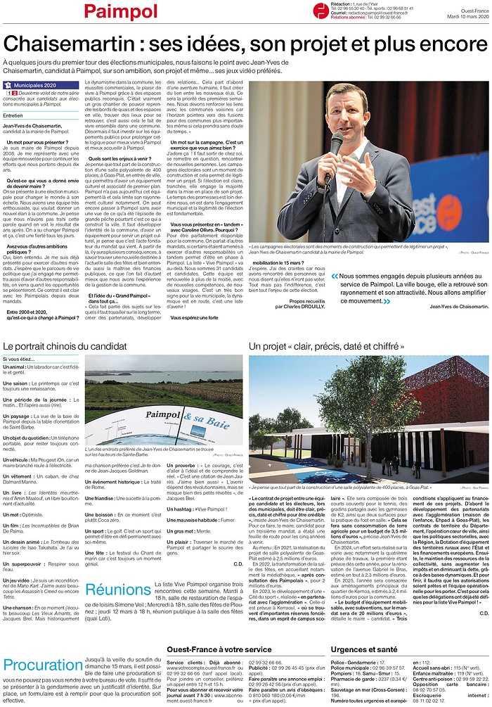 Chaisemartin : ses idées, son projet et plus encore 0